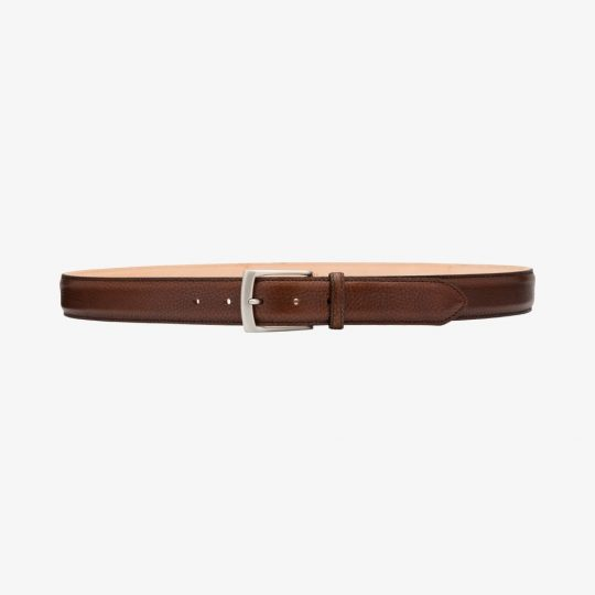 Loake Henry dark brown grain belt