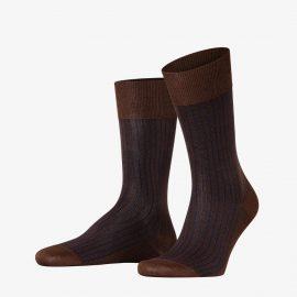 Falke chestnut oxford stripe men socks