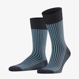 Falke dark navy oxford stripe men's socks