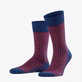 Falke ink oxford stripe men socks