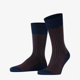 Falke plum oxford stripe men socks