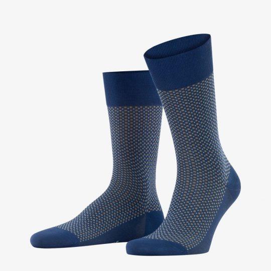 Falke royal blue uptown tie men socks