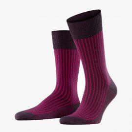 Falke violetonyx oxford stripe men socks