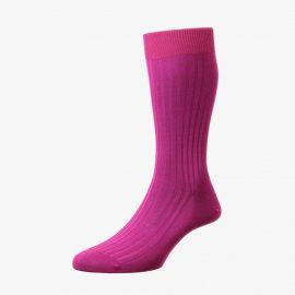 Pantherella Danvers fuchsia men's socks