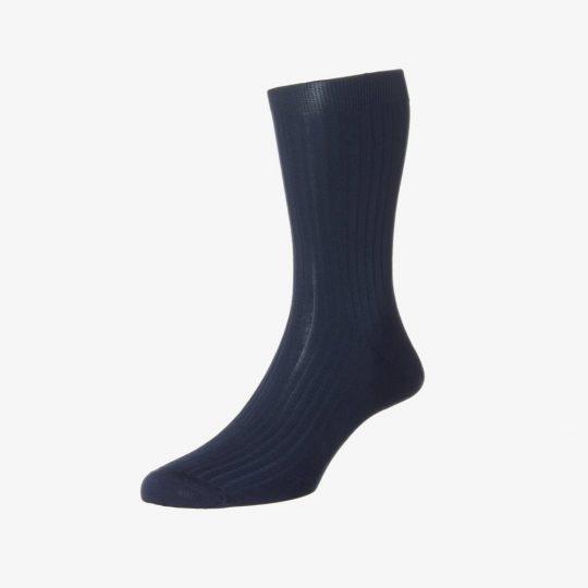 Pantherella vale navy men's socks