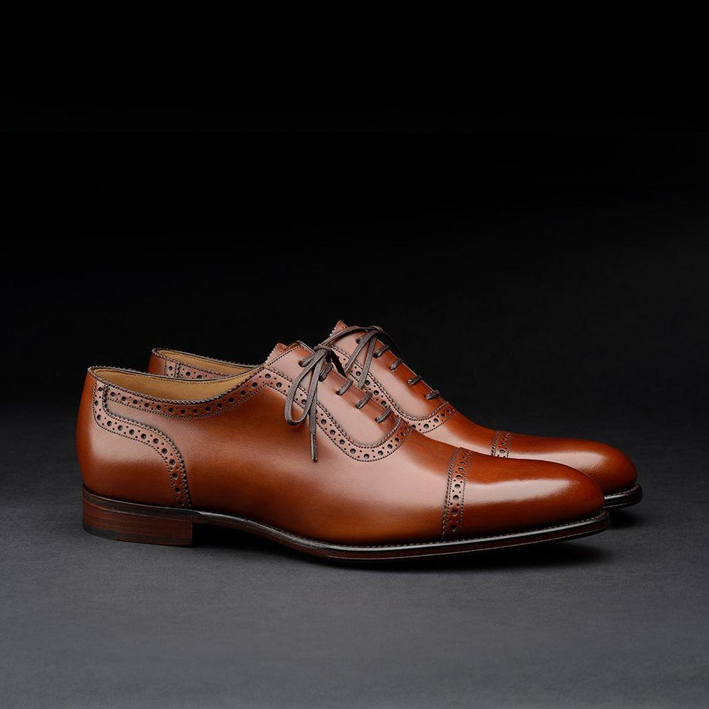 Loake 1880 Export Grade Trinity quarter brogue oxford shoes