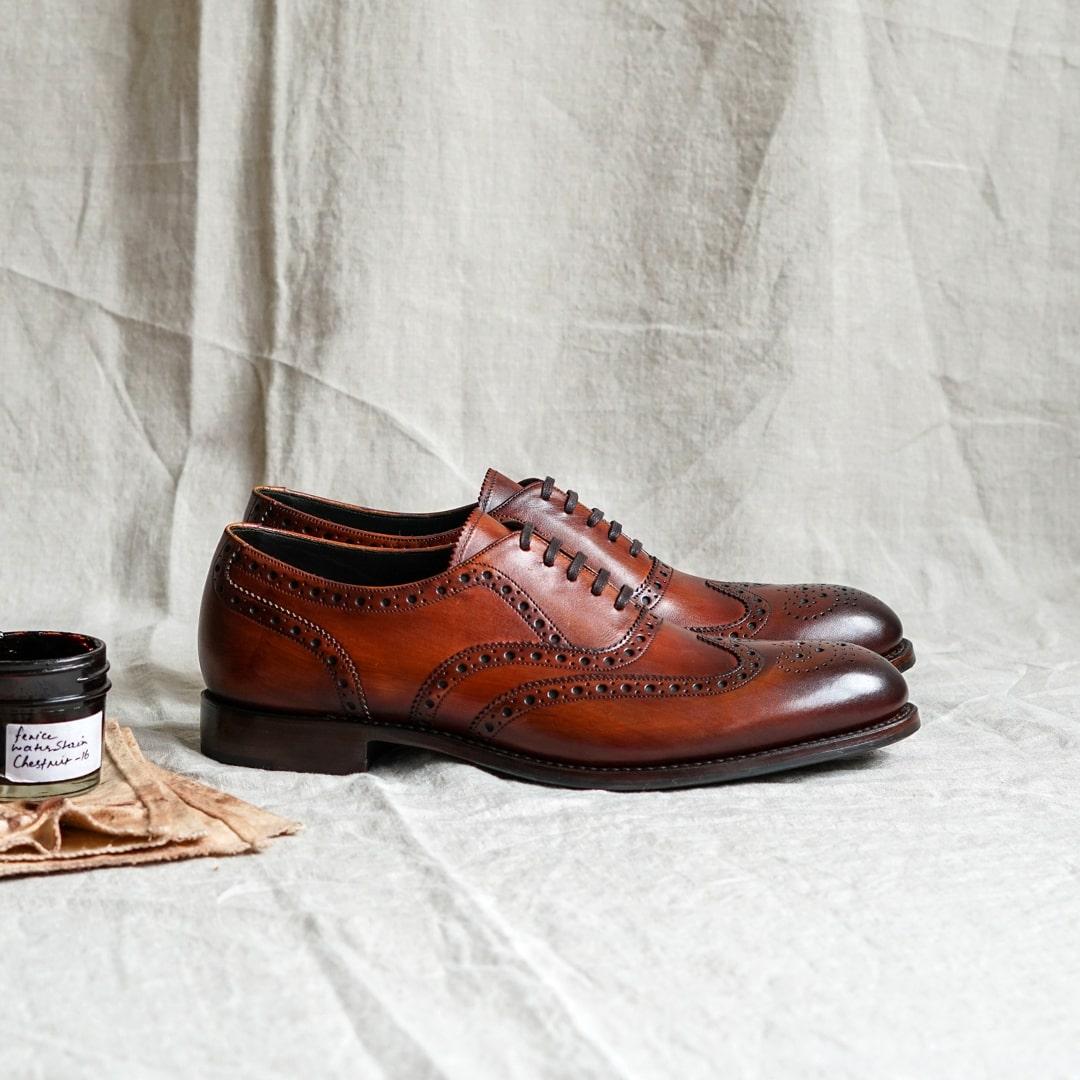 Loake Hepworth brogue oxford shoes