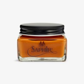 Saphir tan shoe cream polish