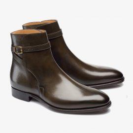 Carlos Santos Aaron 4125 dark green jodhpur boots