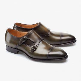 Carlos Santos Andrew 6942 dark green monk strap shoes