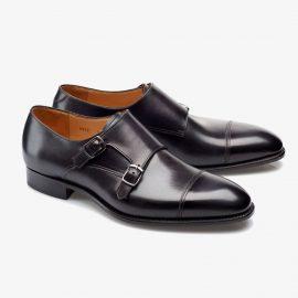 Carlos Santos Andrew 6942 black monk strap shoes