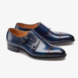 Carlos Santos Andrew 6942 navy monk strap shoes