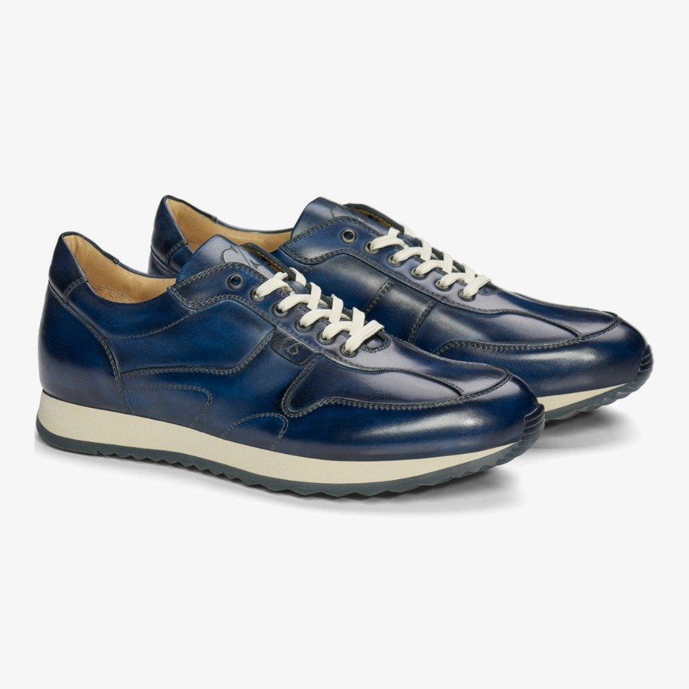 Carlos Santos Damien 8894b navy sneakers