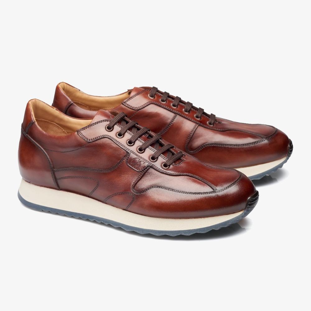 Carlos Santos Damien 8894b red sneakers