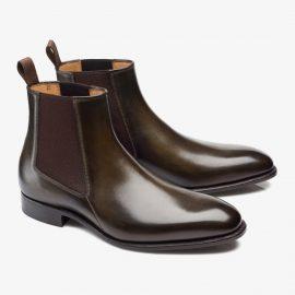 Carlos Santos Daniel 7902 dark green Chelsea boots