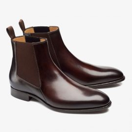 Carlos Santos Daniel 7902 dark brown Chelsea boots