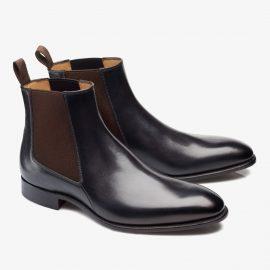 Carlos Santos Daniel 7902 black Chelsea boots