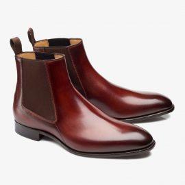 Carlos Santos Daniel 7902 red Chelsea boots