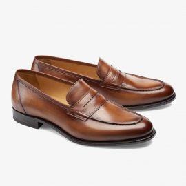 Carlos Santos Elliot 9176 brown penny loafers