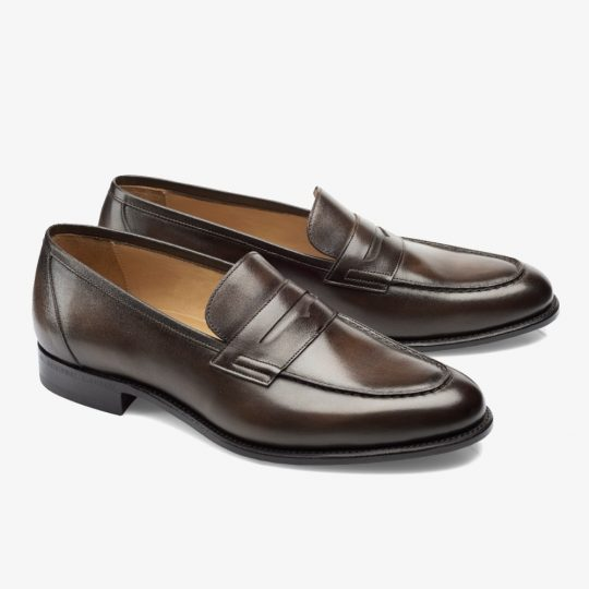 Carlos Santos Elliot 9176 dark brown penny loafers