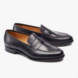 Carlos Santos Elliot 9176 black penny loafers