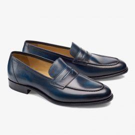 Carlos Santos Elliot 9176 navy penny loafers