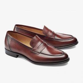Carlos Santos Elliot 9176 red penny loafers