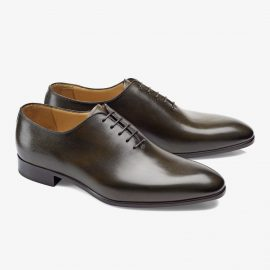 Carlos Santos Francis 6903 dark green whole-cut oxford shoes