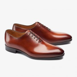 Carlos Santos Francis 6903 brown whole-cut oxford shoes