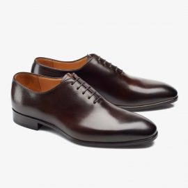 Carlos Santos Francis 6903 dark brown whole-cut oxford shoes