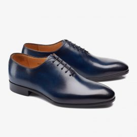 Carlos Santos Francis 6903 blue whole-cut oxford shoes
