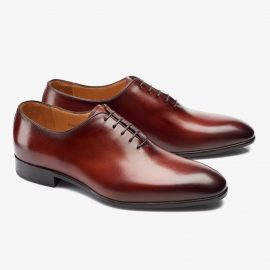 Carlos Santos Francis 6903 red whole-cut oxford shoes