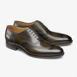 Carlos Santos Frank 7273 dark green brogue oxford shoes