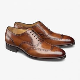 Carlos Santos Frank 7273 brown brogue oxford shoes