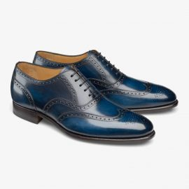 Carlos Santos Frank 7273 navy brogue oxford shoes