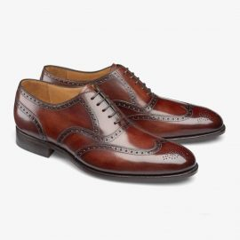 Carlos Santos Frank 7273 red brogue oxford shoes