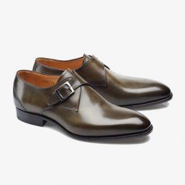 Carlos Santos 6307 dark green monk strap shoes
