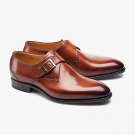 Carlos Santos 6307 brown monk strap shoes