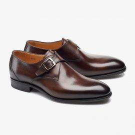 Carlos Santos 6307 dark brown monk strap shoes