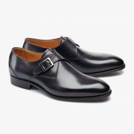 Carlos Santos 6307 black monk strap shoes