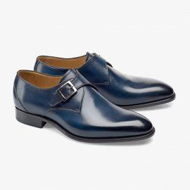 Carlos Santos 6307 navy monk strap shoes