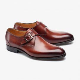 Carlos Santos 6307 red monk strap shoes