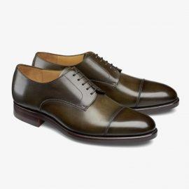 Carlos Santos Gary 9381 dark green toe cap derby shoes