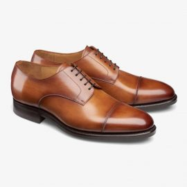 Carlos Santos Gary 9381 brown toe cap derby shoes