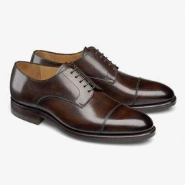 Carlos Santos Gary 9381 dark brown toe cap derby shoes