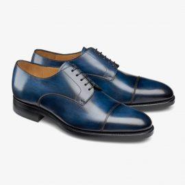 Carlos Santos Gary 9381 blue toe cap derby shoes