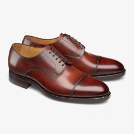 Carlos Santos Gary 9381 red toe cap derby shoes