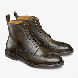 Carlos Santos Gladiator 8922 dark green brogue boots