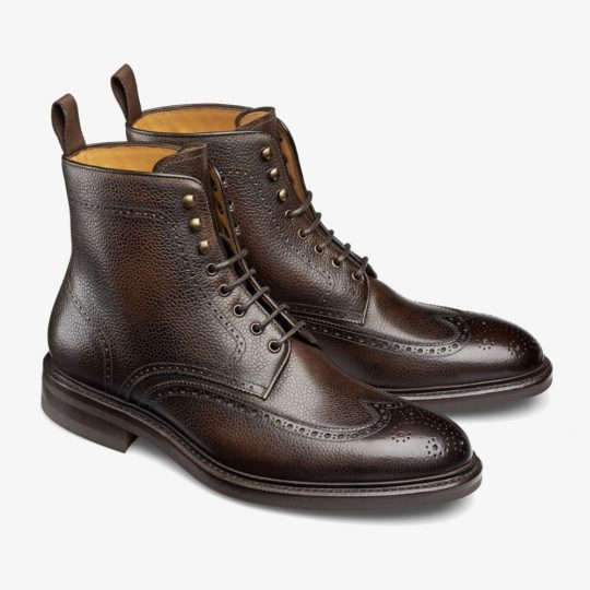 Carlos Santos Gladiator 8922 dark brown brogue boots