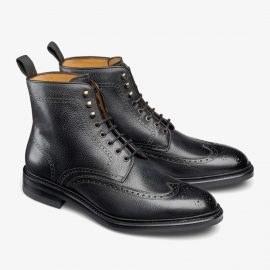 Carlos Santos Gladiator 8922 black brogue boots